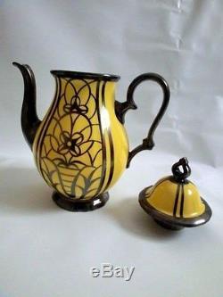 Rosenthal Vintage Porcelain 1949 West Germany Original Yellow Coffee Pot Tea Set