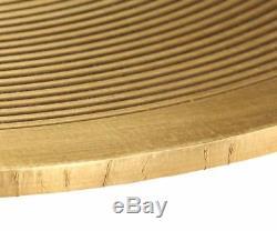 Round Industrial Coffee Side Table Nightstand Set Vintage Furniture Metal Legs