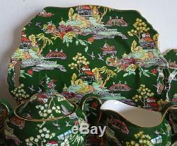 Royal Winton Chintz Coffee/tea Set Green Pekin Gaudy Willow Vintage 6 Cups Plate