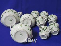 Russian Soviet Vintage Porcelain Coffee Set, Gorodnica Brand, USSR, 70s. Rare