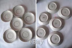 Russian Vintage Porcelain Coffee Set Cobalt Grid, Gorodnica, USSR. 1971. Rare