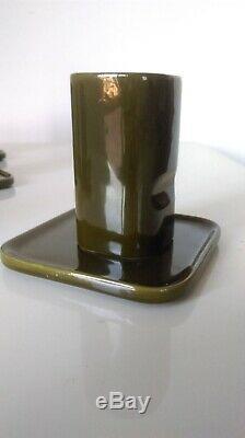 SAKURA TEA AND COFFEE SET BY makio hasuike for pozzi franco vintage pottery