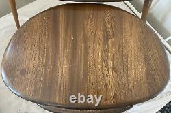 SET 3 VINTAGE MID CENTURY RETRO ERCOL ELM WOOD PEBBLE NEST OF COFFEE TABLES Vgc