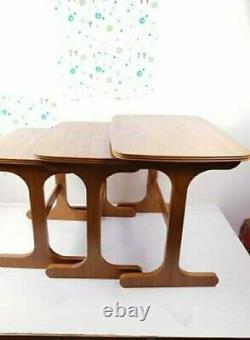 Set of 3 Mid Century Vintage Nest of Coffee Tables Danish(Rare)