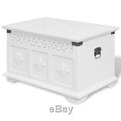 Shabby Chic Storage Chest Coffee Side End Table Vintage Wooden Trunk Toy Box Set