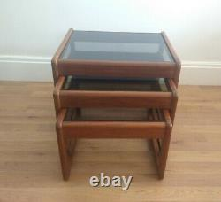 Side tables set of 3 coffee tables stonehill g plan style mid century vintage