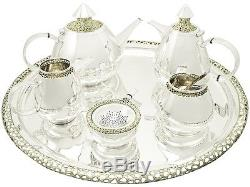 Sterling Silver Six Piece Tea and Coffee Set Vintage, 1970s