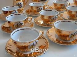Stunning Rare vintage German Bavaria gold coloured 27 piece tea / coffee set