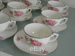 Stunning vintage French porcelain 27 piece tea set / coffee set