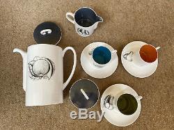 Susie cooper 1970s Vintage Black Fruit Coffee Set