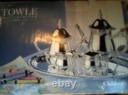 Towle Children's 5-piece Silverplate Coffee & Tea Set Vintage 1990's