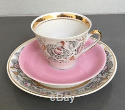 USSR Latvia Riga Very Rare Vintage RPR 23 pc Gilded Tea/Coffee Set 1970s