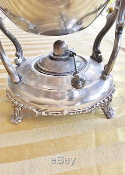 VINTAGE 20th C Wm. ROGERS SILVERPLATE DOUBLE HANDLE SERVING TRAY, COFFEE SET