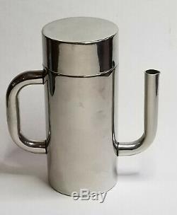 VINTAGE 70's SERGIO ASTI for ICM ITALY POSTMODERN S. STEEL ESPRESSO COFFEE SET