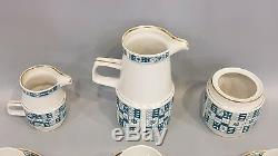 VINTAGE HUNGARIAN ZSOLNAY ART DECO STYLE MODERN PORCELAIN COFFEE SET 1960s