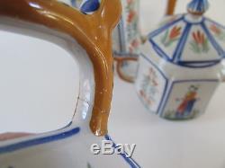 VTG Henriot Quimper France Tea/Coffee Pot Set of 3