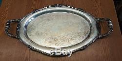 VTG Lot Set Glenrose 1881 Rogers Platter Cream Sugar Coffee Pot