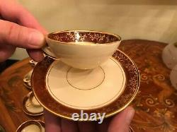 Vintage 12 cups 12 Saucers Sesto F La Flamma Italian Porcelain Coffee Set