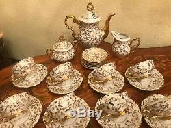 Vintage 12 cups 12 saucers German Bavaria Pot Sugar Cup Milk Jug Bowl Coffee Set