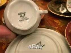 Vintage 12 cups 12 saucers Royal Epiag Porcelain Coffee Set