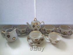 Vintage 13 Piece Tea / Coffee Set Riga Porcelain Collectible Antique Original