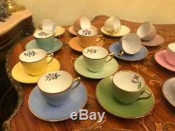 Vintage 13 cups 13 saucer Danish Bing & Grondahl Copenhagen Porcelain Coffee Set