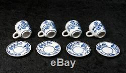 Vintage 15 Piece Exquisite Cobalt Blue and White Floral Tea Coffee Set
