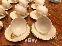 Vintage 15 cups 15 Saucer Beige Arabia Finland Porcelain Coffee Set