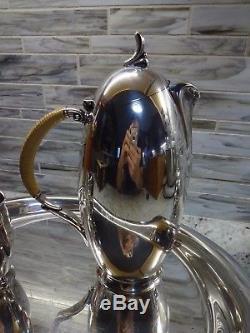 Vintage 1847 Rogers Bros Coffee/Tea Pot, Creamer & Sugar, Silverplate Set
