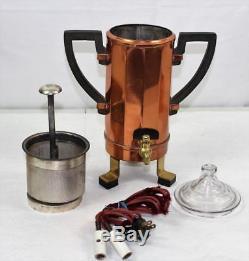 Vintage 1907 Jos Heinrichs Paris New York Pure Copper Coffee Tea Set Service