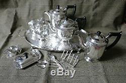 Vintage 1930's Silver Plated Tea & Coffee Set