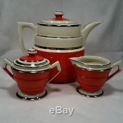 Vintage 1930s HALL CHINA Art Deco Coffee Set