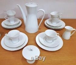 Vintage 1954 White Rosenthal Tea/Coffee Set For Six