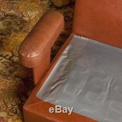 Vintage 1960s/1970s Orange Stripe MOBEL Modular Sofa Set & Coffee Table E. German