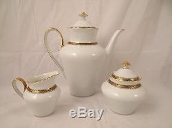 Vintage 26 Piece Hutschenreuther Mandeleine White/gold MID Century Coffee Set
