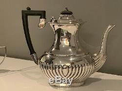 Vintage 3-pc. Edwardian Sheffield Silver Plate Tea / Coffee Set