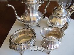 Vintage 5 pc. Gorham sterling silver coffee & tea set Strasbourg No monogram