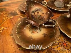 Vintage 6 Cups 6 Saucers German Bavaria Creidlitz Porcelain Coffee Set