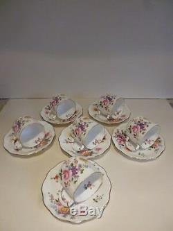 Vintage 6 Place Royal Crown Derby'posies' Coffee Set Circa 1967 Pristine Con