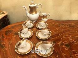 Vintage 6 cups 1 Pot 1 Milk Jug JlMenau Graf Von Henneberg Porcelain Coffee Set