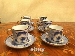 Vintage 6 cups 6 Saucers Arabia Finland Porcelain Coffee Set