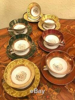 Vintage 7 cups 7 Saucer German Bavaria GKC Porcelain Coffee Set