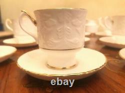 Vintage 9 cups 9 Saucers English Staffordshire Porcelain Coffee set