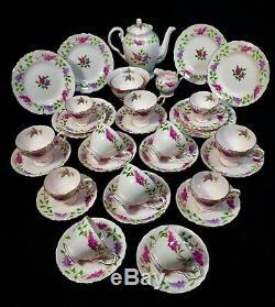 Vintage Afternoon Tuscan Tea & Coffee Set / Bone China / Lilac Time / Floral
