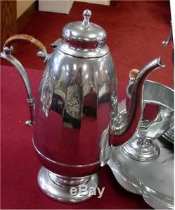 Vintage Aluminum or Chrome Coffee Set Pre-owned