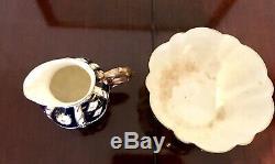 Vintage Antique Aynsley Bone China#6987 Old Imari Coffee Set & Plates(34 pieces)