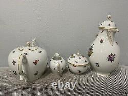 Vintage Antique German Nymphenburg Porcelain Tea / Coffee Set Service with Tray