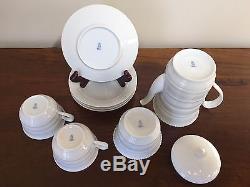 Vintage Augarten Wien Vienna White Porcelain Coffee Set