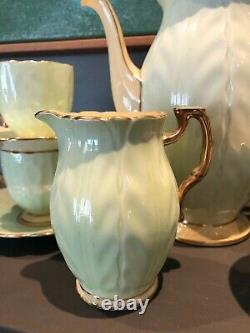 Vintage Aynsley Demitasse Crocus Coffee Set circa. 1934
