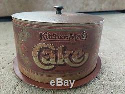 Vintage BALLONOFF Tin Nesting Canister Set Flour Sugar Coffee Tea Cake plus more